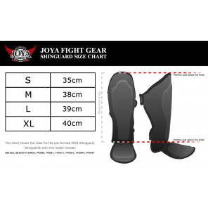 "Joya ""SKINTEX"" Shinguard (Synthetic Leather) (082500-Black)"