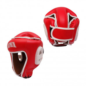"Joya ""COMBAT"" Open Face Headgear Red"