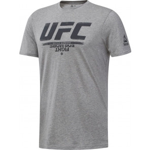 REEBOK UFC FAN GEAR LOGO TEE GREY